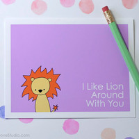 Lion I Love You Card Cute Love Card Romantic Card Happy Anniversary Card Fun Love Card For Boyfriend Card Husband Card Fun Card Pun Card