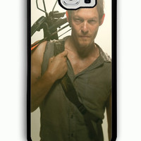 Samsung Galaxy S6 Case - Rubber (TPU) Cover with Daryl Dixon The Walking Dead Character Rubber case Design