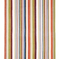 Cotton Craft - Terry Beach Towel 30x60 - 2 Pack - Tommy Stripe Blue Multi - 400 grams 100% Pure Ringspun Cotton - Brilliant intense vibrant colors - Highly absorbent easy care machine wash - Use for picnic poolside or as a colorful bath towel