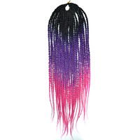 Black Wig African Small Twisted Braid     C9