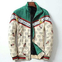 GUCCI 2018 autumn and winter new high-end men's simple trend zipper cardigan jacket