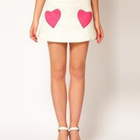 ASOS | ASOS Quilted Mini Skirt With Heart Pockets at ASOS