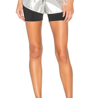 Lovers + Friends WORK by Lovers + Friends Pace Layered Short in Silver