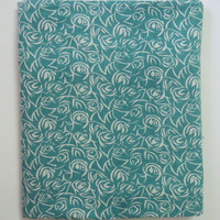 1 yard India Cotton Fabric/Natural Vegetable Dyes for Dresses,Curtain Tuquoise Blue Jaipur