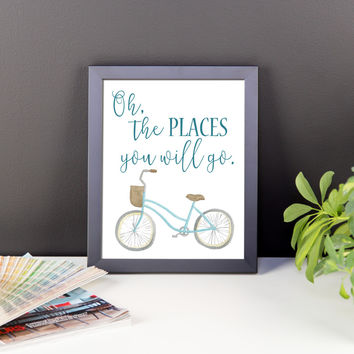 Oh The Places You Will Go Framed Poster