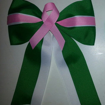 Cheer bow for breast cancer