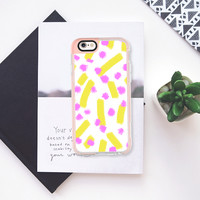 Chartreuse strokes & dots - Brightly Spring iPhone 6s case by Allyson Johnson | Casetify
