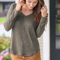 Show a Smile Sweater - Olive