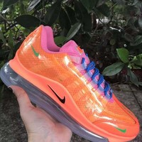HCXX 19July 941 Nike Air Max 720-95 Heron Preston By You Transparent Flyknit Breathable Running Shoes orange