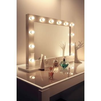 Diamond X Gloss White Hollywood Makeup Mirror with Dimmable LED k313LED - Walmart.com