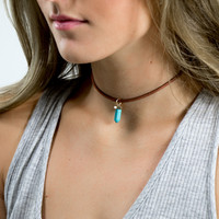 Adelaide Brown & Black Turquoise Stone Rope Choker Collection