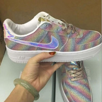 """NIKE"" AIR Fashion Women Running Sport Casual Shoes Sneakers Shining Rainbow Color"