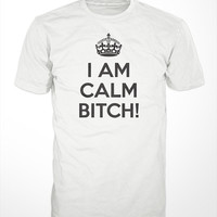 Keep Calm T-Shirt -  carry on mens gift tshirts bitch parody tee funny graphic shirt chive