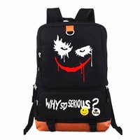 New 2018 Suicide Squad Joker Harley Quinn Backpack Laptop Bags Teenagers Men Women's Student School Bags Travel Shoulder Bag
