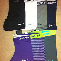 "Nike Pro 5"" Inch Core Compression Spandex Shorts Dri-FIT Running Training Tights"