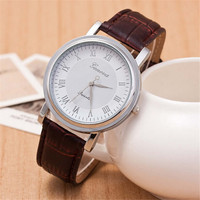 Mens Retro Leather Strap Watch Bicycle Sports Watches + Beautiful Gift Box