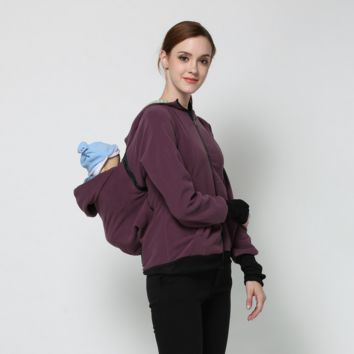 Baby Carrier Jacket Kangaroo Winter Maternity Outerwear Coat for Pregnant Women Thickened Pregnancy Wool Baby Wearing Coat Women [9302850122]