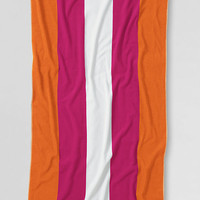 Vertical Rugby Stripe Beach Towel from Lands' End