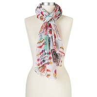 SONOMA life + style Chirstmas Card Oblong Scarf