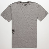 Fox Wind Storm Mens T-Shirt Graphite  In Sizes