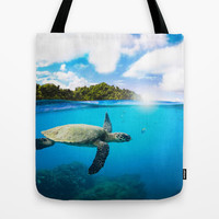 Tropical Paradise Tote Bag by Nicklas Gustafsson