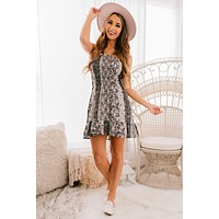 Wild And Carefree Print Dress (Black/White)