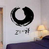 Wall Decal Buddha Zen Yoga Meditation Enso Cirlcle Relaxation Zen Decor Unique Gift (z2673)