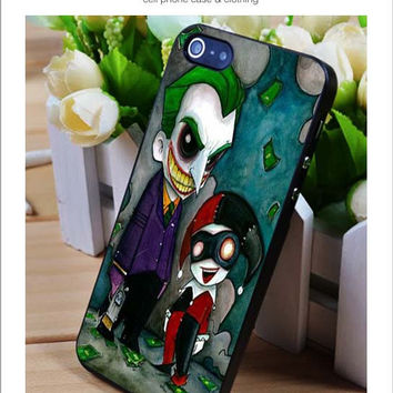 Joker and Harley Quinn art iPhone for 4 5 5c 6 Plus Case, Samsung Galaxy for S3 S4 S5 Note 3 4 Case, iPod for 4 5 Case, HtC One for M7 M8 and Nexus Case