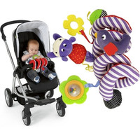 Hanging Doll Build-in Bell Cute Infant Baby Bed Stroller Car Seat Play Travel Toys Cute Activity (Color: Multicolor)