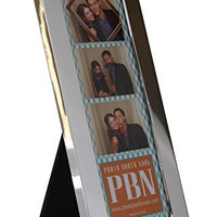 Shiny Silver Designer Metal Photo Booth Frame, Chrome for 2x6 Wedding Photo Booth Picture Strips