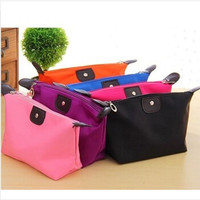 Hot  Free shipping  handbags New Lady Cosmetic Bag Makeup Folded Bag Purse Pouch Zipper Pen Pencil Brush Case  Cosmetic X02