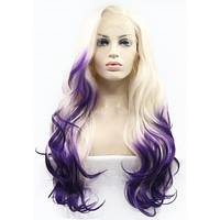 Purple Ombre Long Length Wig