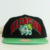 Pokemon - Bulbasaur Black Snapback Hat