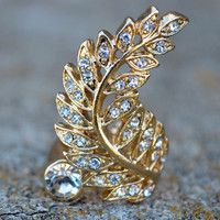 Down To Earth Gold Leaf Ring