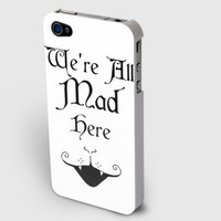 """Alice in Wonderland inspired - """"We're All Mad Here"""" - iPhone case NOW ONLY $15!"""