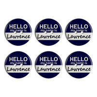 Lawrence Hello My Name Is Plastic Resin Button Set of 6