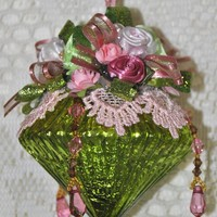 LIMITED EDITION Mary Hand Decorated Victorian Glass Ornament
