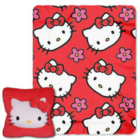 Hello Kitty (Kitty Flowers)  3D Pillow & Throw Set