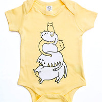 Baby Gift Baby Clothes STACK THE CATS Baby Shower Gifts - Gender Neutral Baby Clothes, Baby Boy Clothes Baby Clothing Cat Gifts