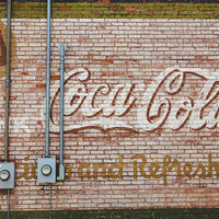 Coca Cola Photography, Buena Vista Georgia Print Travel Southern Mural Art Retro Signage Travel Photography