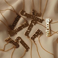 18K GOLD PLATED STAINLESS STEEL ZODIAC NAME