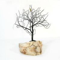 Quartz and Wire Tree Sculpture