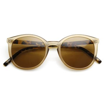 Vintage Inspired Dapper Round P3 Key Hole Fashion Sunglasses 9433