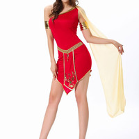 Oblique Shoulder Sleeveless Evil Queen Costume Set