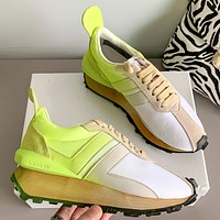 Lanvin Thick soled small white shoes