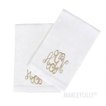 Monogrammed Dish Towels | Marleylilly