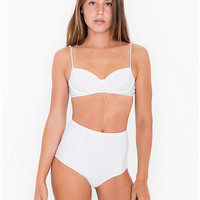 Nylon Tricot High-Waist Swim Brief | American Apparel