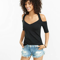 Cold Shoulder Halter Tee from EXPRESS