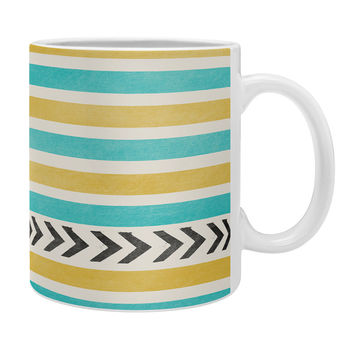 Allyson Johnson Green And Blue Stripes And Arrows Coffee Mug