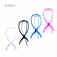 1PC Colorful Ajustable Wig Stands Plastic Hat Display Wig Head Holders 18x36Cm Mannequin Head/Stand Portable Folding Wig Stand
